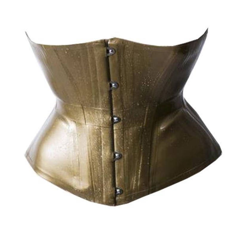 Latex Rubber Corset Underbust steel boned By VEX Concave  3772b7f12