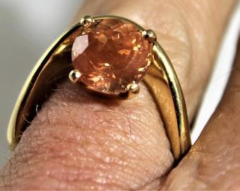 Oregon Sunstone gold ring