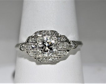Platinum Diamond antique band