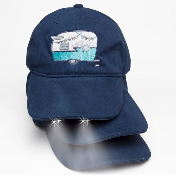 Trailer Glamping Flashlight Baseball Hat Shasta Camper