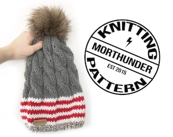Stripes and Cables Knitting Pattern by Morthunder