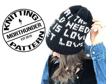 Love Sweet Love Knitting Beanie Pattern by Morthunder