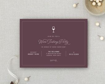5b453188ecec Wine Tasting Party Invitation