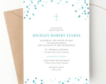 twins baptism christening invite classic announcement baby etsy