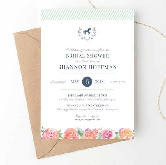 Kentucky derby bridal shower invitations horse race or etsy image 0 filmwisefo