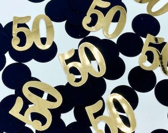 50th Birthday Decorations, 30/40/50/60 Birthday Decorations, Number Confetti, Birthday Confetti, Birthday Decorations, fifty Confetti