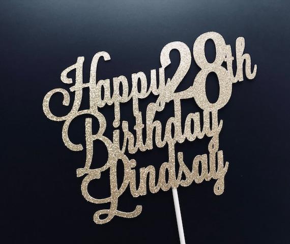 Birthday Cake Topper Custom Decorations Name