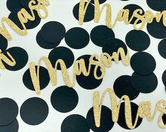 Name Confetti, Custom Confetti, Wedding Confetti, Personalized Confetti, Custom Name Confetti, Bridal Shower Confetti, Birthday Confetti