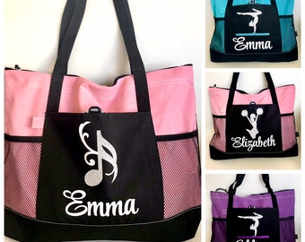 Personalized Dance Bag, Personalized Ballet Bag Gymnastics Bag, Cheer Bag, Basketball, Sports Bag, Piano Bag, Personalized Gifts for Kids
