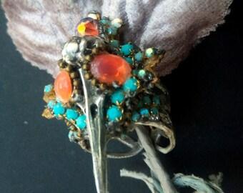 """Ring """"MORNING BIRD"""", baroque ring, bird ring, gothic ring"""