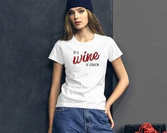 It's wine o'clock! Women's short sleeve t-shirt