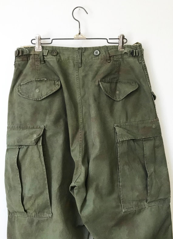 Vintage Military M-51 Cargo Pants size Small Regu… - image 6