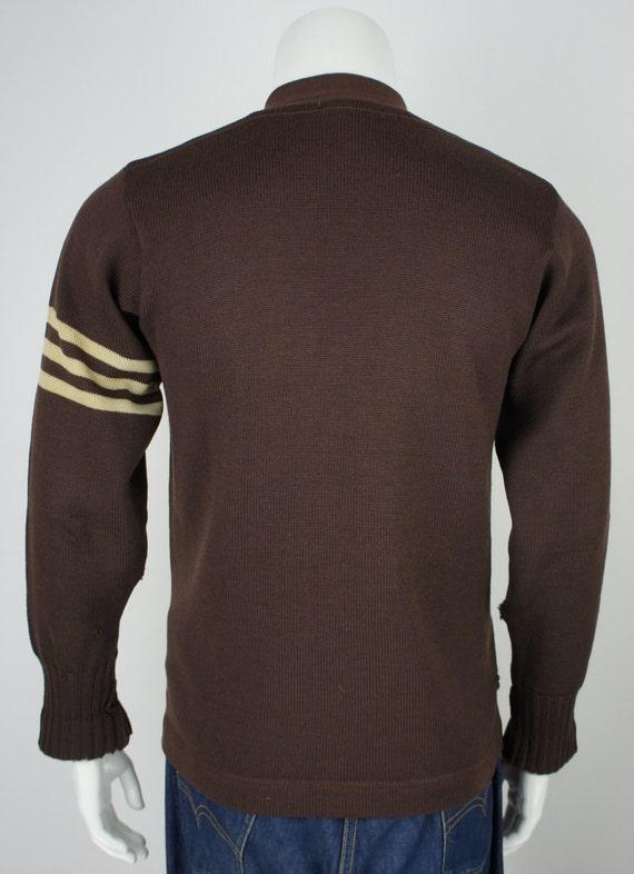 Vintage 1950's Letterman Varsity Sweater with Emb… - image 2