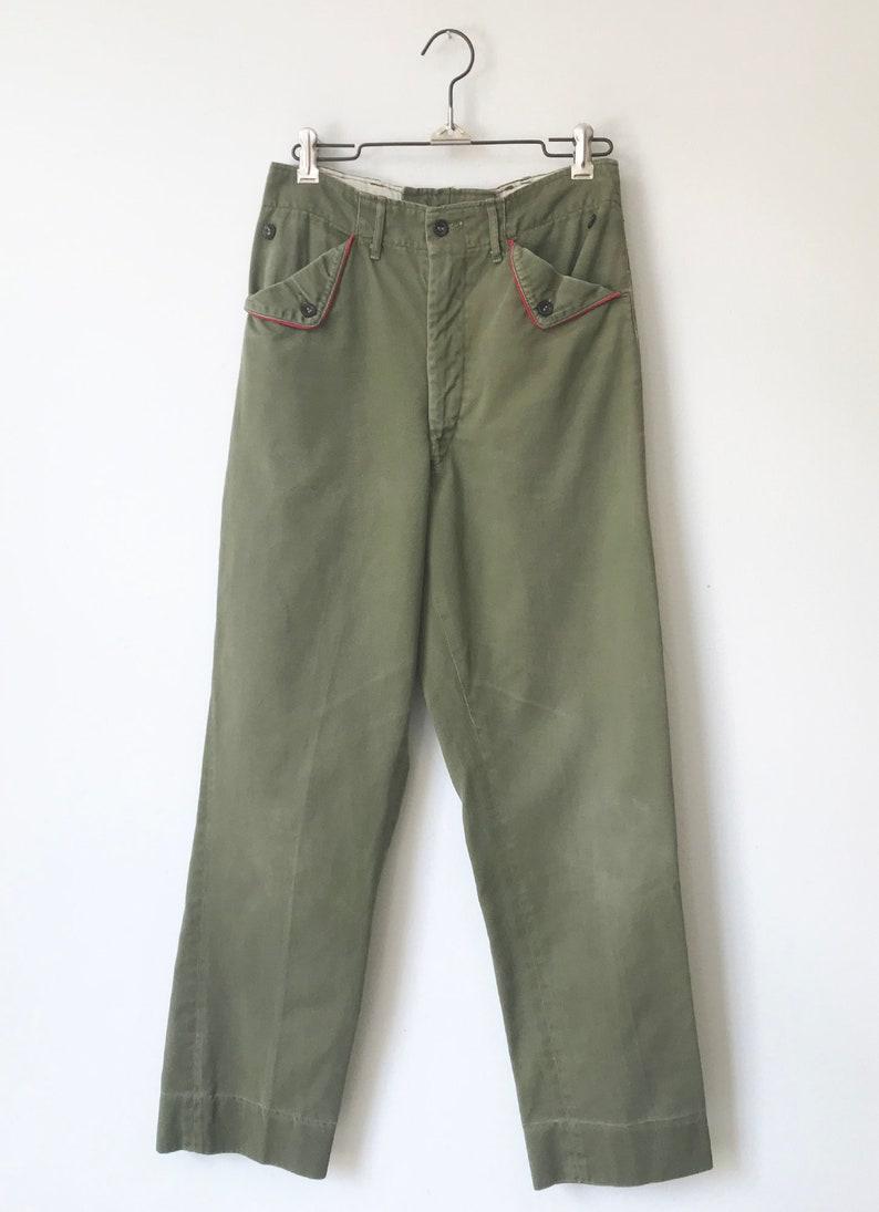 Vintage 1950's Boy Scout Uniform Pants size 26 x 29