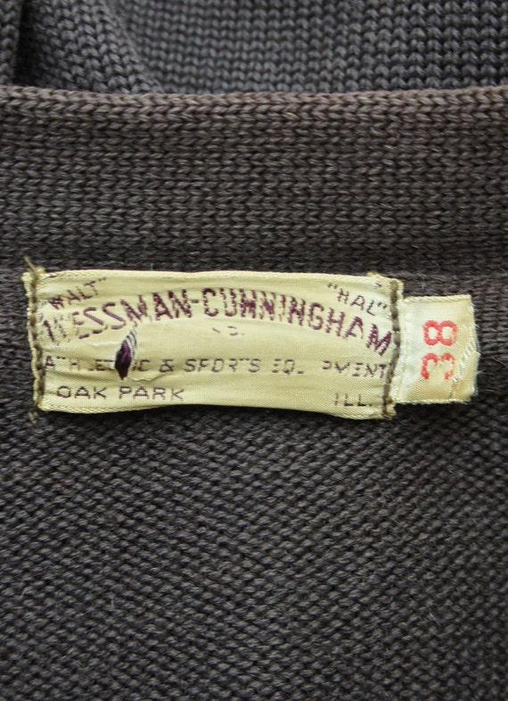 Vintage 1950's Letterman Varsity Sweater with Emb… - image 5