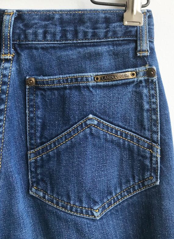 Vintage Unique 80's Indigo Denim Landlubber Jeans… - image 5