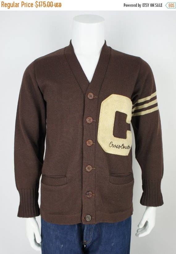 Vintage 1950's Letterman Varsity Sweater with Embr