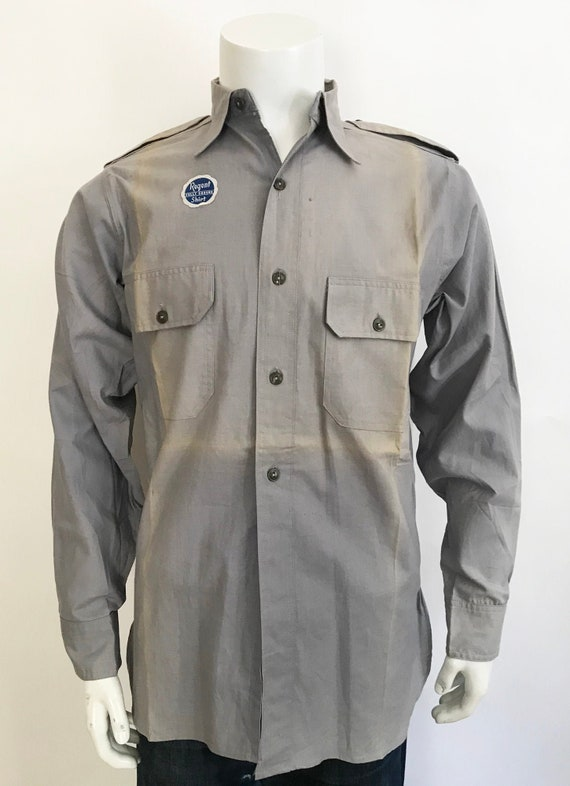Vintage 1940's Sanforized Regent Work Shirt size S