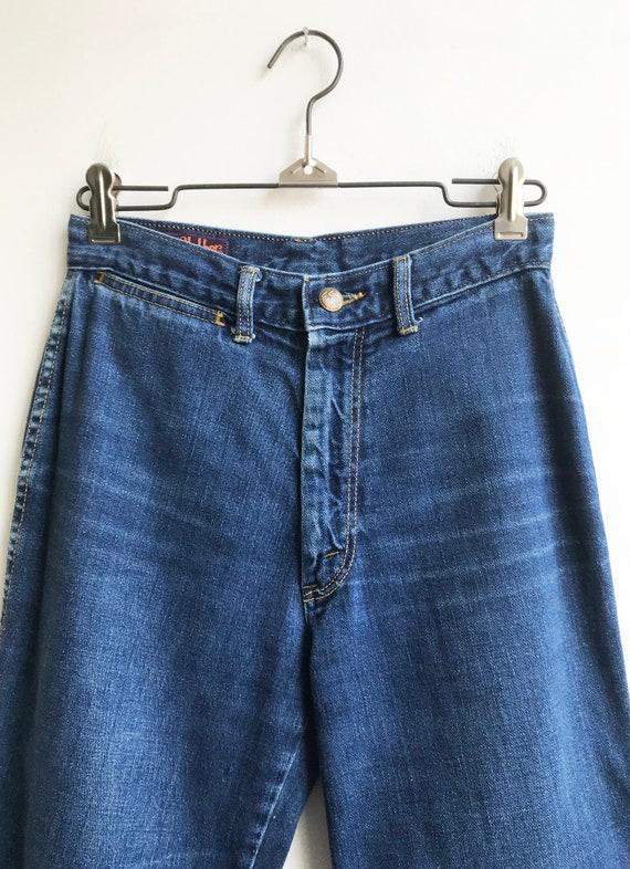 Vintage Unique 80's Indigo Denim Landlubber Jeans… - image 2