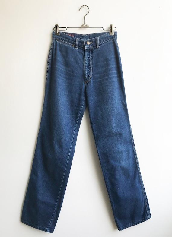 Vintage Unique 80's Indigo Denim Landlubber Jeans