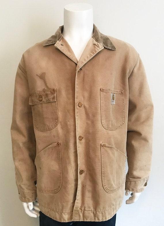 Vintage Carhartt Canvas Workwear Chore Jacket size