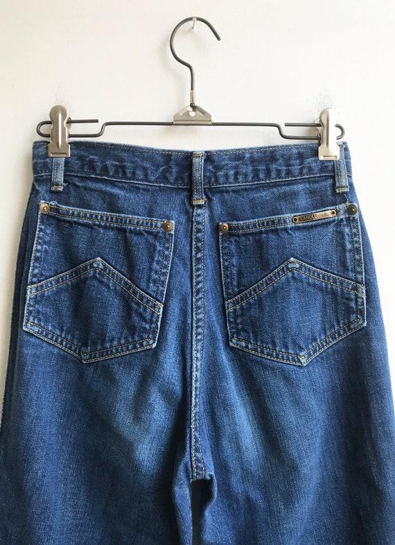 Vintage Unique 80's Indigo Denim Landlubber Jeans… - image 4