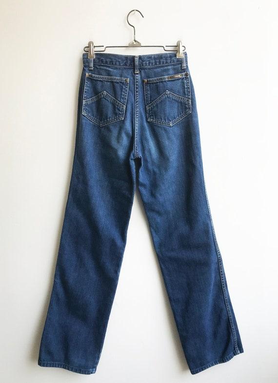 Vintage Unique 80's Indigo Denim Landlubber Jeans… - image 6
