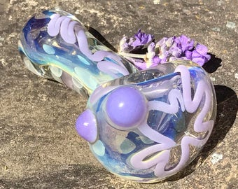Urple Purple Color Changing Spoon Pocket Pipe. Tobacco Glass Smoking Pipe.