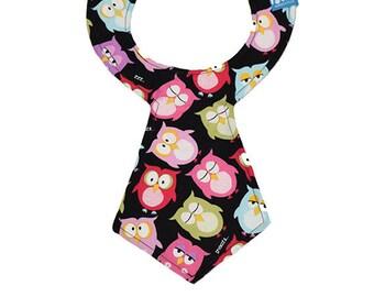 62ee47de05 Sleepy Owl Necktie Bib