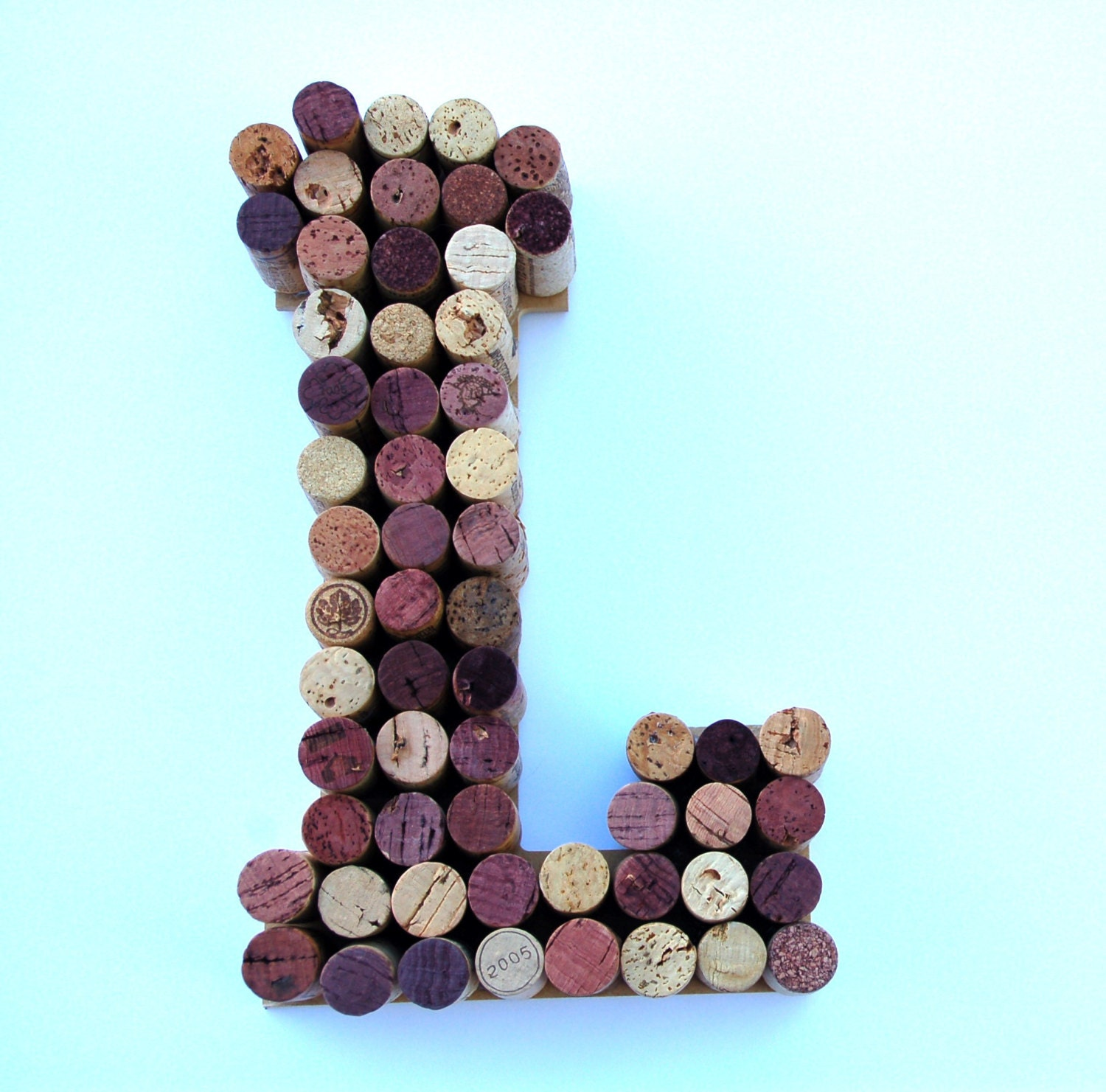 Real Weddings Cork: Wine Cork Letter L Made From Real Wine Corks Cork Letters