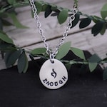ENOUGH Eating Disorder Recovery Necklace / Eating Disorder Awareness Jewelry / ED Symbol Necklace / Enough Necklace / neda symbol