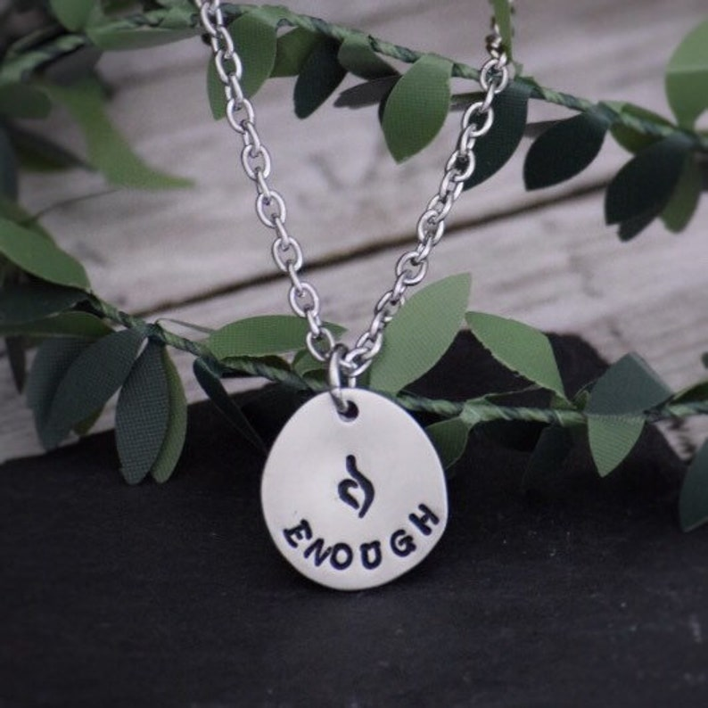 ENOUGH Eating Disorder Recovery Necklace / Eating Disorder image 0