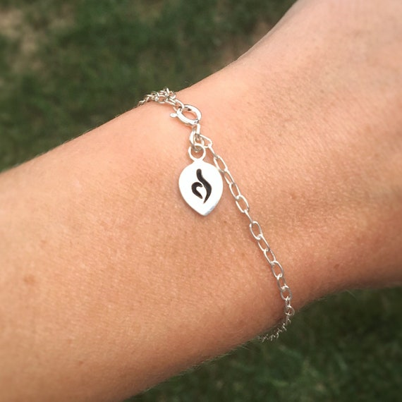 Sterling Silver Eating Disorder Awareness Bracelet Stamped Etsy