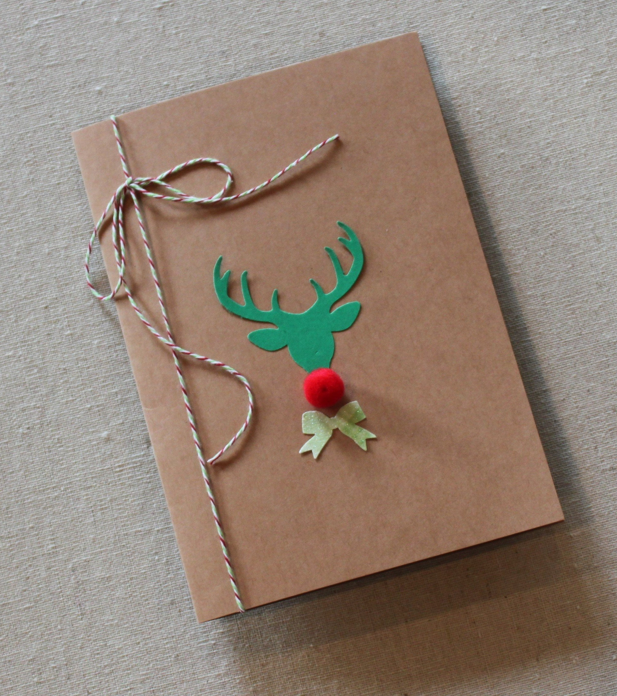 Holiday Oh Deer Kraft DIY Greeting Card Kit Includes 5x7 Card | Etsy