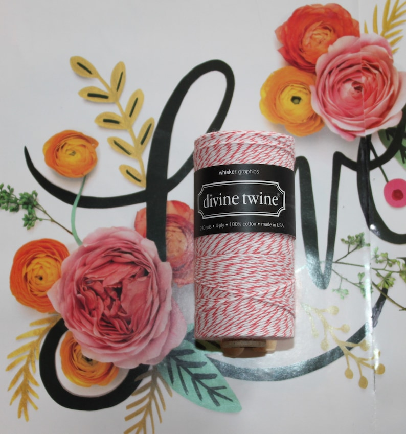 20 Yards • Divine Twine Twist • Baker/'s Twine • 4-Ply • 100/% Cotton • Peppermint