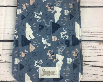 Little Boy Burp Cloth / Dragon Burp Cloths
