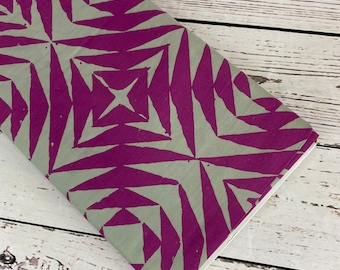 Handcrafted Patchwork Pineapple in Thistle (purple) by Alison Glass for Andover Fabrics, Sold in 1/2 yard incriments, Fabric by the Yard