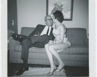 Vintage Snapshot Photo: Party Couple, 1963 (69501)