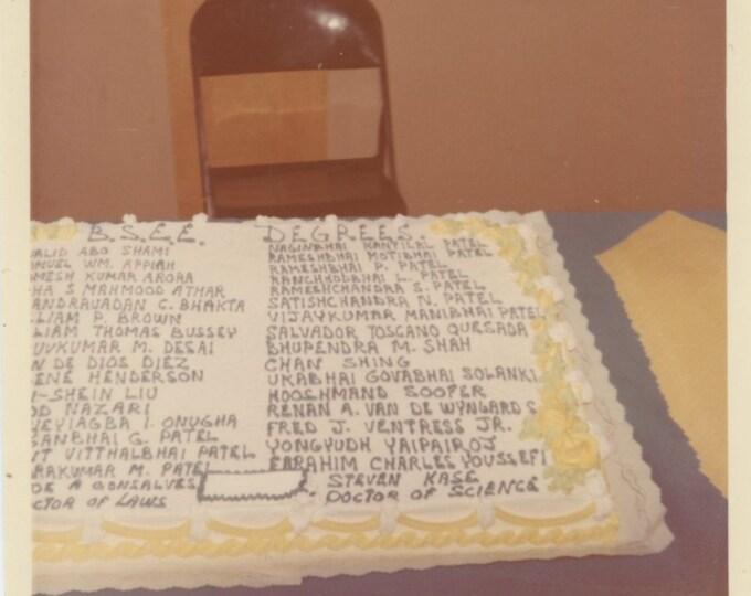 B.S.E.E. Degrees Graduation Cake: Vintage Snapshot Photo [85674]