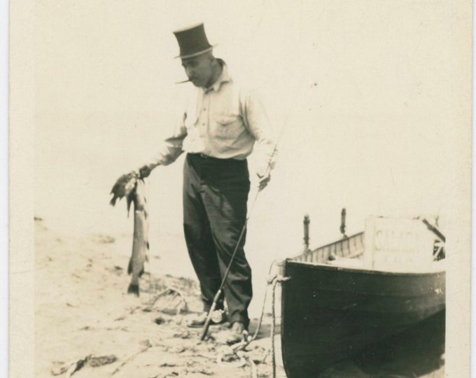 Vintage Snapshot Photo: Catch of the Day [812759]
