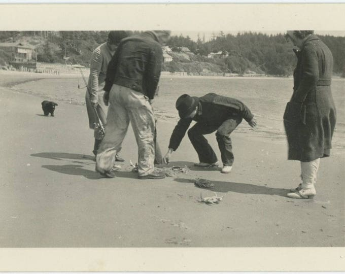 Vintage Snapshot Photo: Crabs  (81634)