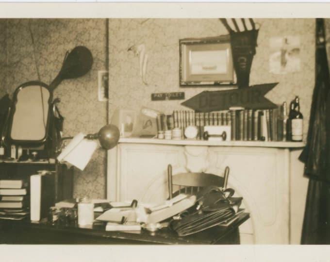 Vintage Snapshot Photo: Study, c1930s [812751]