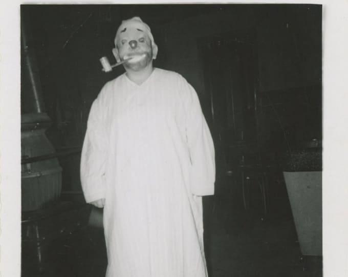 Vintage Snapshot Photo: Halloween Costume, 1960 [89727]