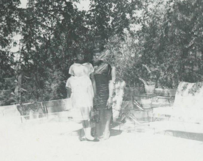 Disjointed: Double Exposure Vintage Snapshot Photo 1966 (79605)