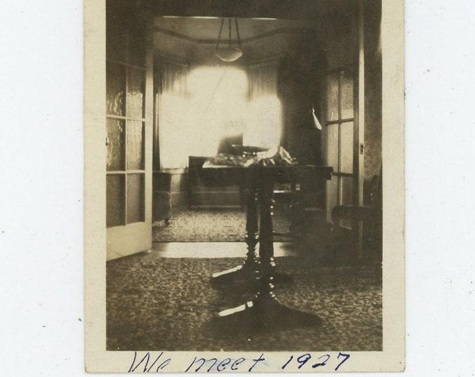 "Vintage Snapshot Photo: ""We Meet, June 11, 1927"" (88710)"