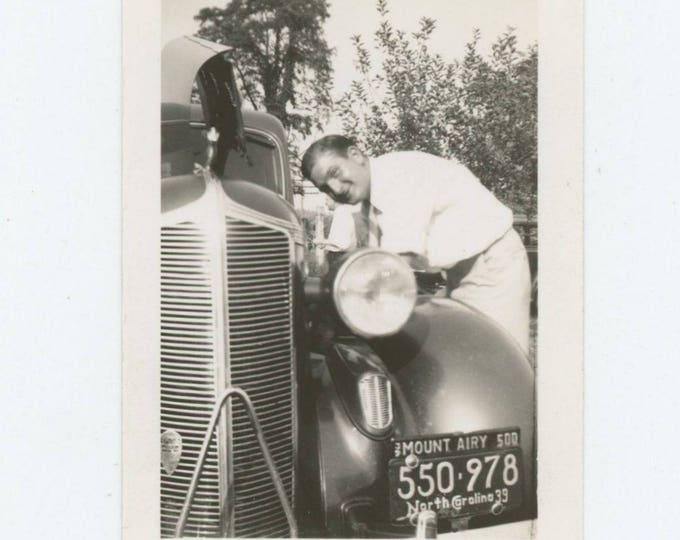 Vintage Snapshot Photo: Tinkering, 1939 (711620)