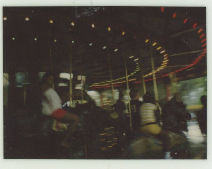 Vintage Kodak Instant Snapshot Photo: Carousel [83655]