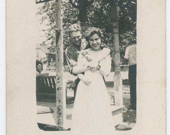 Gun Play, 4th of July, 1911 Vintage Snapshot Photo [91767]