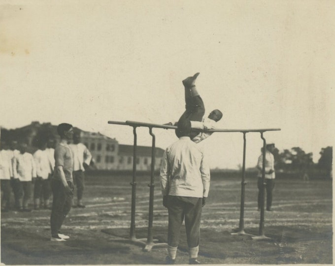 Bulgarian Military Barracks, 1930s: Vintage Snapshot Photo [811741]