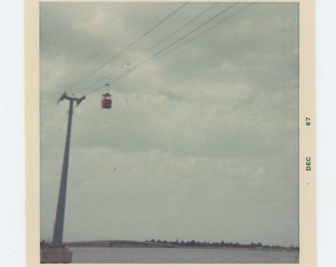 "Vintage Snapshot Photo: ""Jamie, Lynea & Grandpa in Sky Ride, Sea World, 1967"" (74564)"